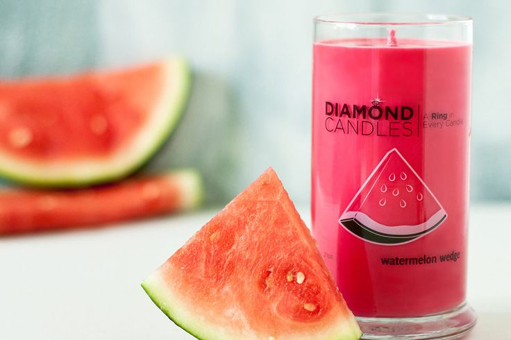 Watermelon Wedge Ring Candle, because Watermelon always makes me think of summer! @DIAMOND CANDLES #watermelonwedge #diamondcandles #summerscents
