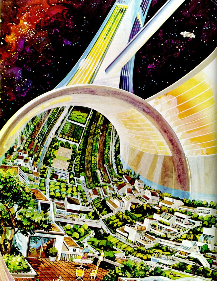 Cut away of a Stanford Torus - From: Space Settlements a Design Study - 1975