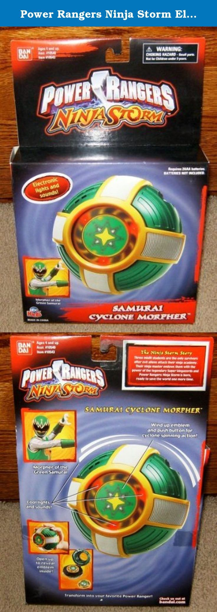 "Power Rangers Ninja Storm Electronic Samurai Cyclone Morpher. Produced by Ban Dai in 2003. Very Rare. Approximate size of unopened packaging is 12"" x 7.5"" x 2"". Requires 2 AAA batteries (not included)."