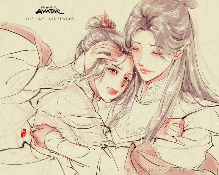"Mother and Daughter _ Ursa x Azula by *kelly1412 : ""A piece for Mother's Day.""; a very emotional piece"