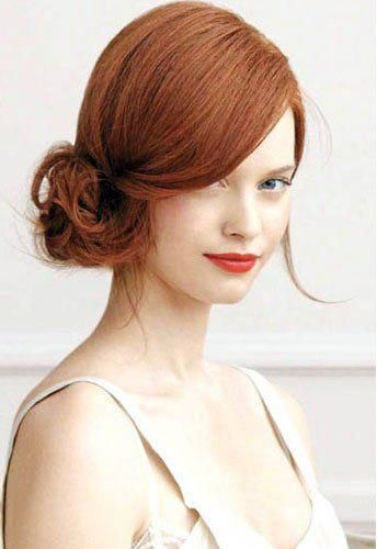 New hairstyles for big foreheads women. About 30+ haircut ideas for big forehead ladies, Wavy, Updo, Bob With Side Fringe and more hairstyles. #sideUp...