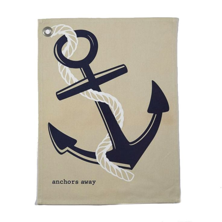 Anchor Grain Sack Towel | Anchors Away Nautical Kitchen | LaBelle's General Store