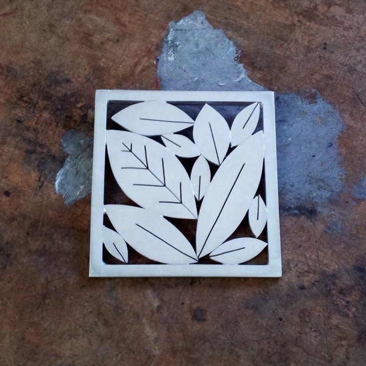 Leafy Brooch by Diana Greenwood www.diana-greenwood.com
