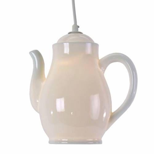 Lampa ceainic alba H22