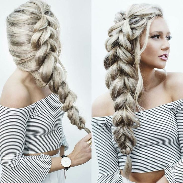 Amazing pull through braid!! Want to create this hairstyle? Add more volume us…