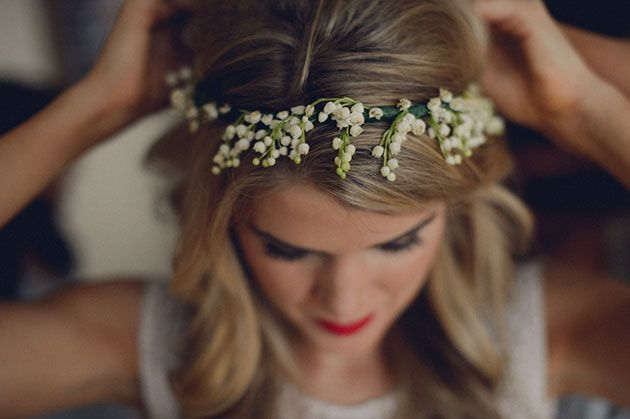 Classic New Orleans Wedding, Christy and Luke, Lily of the Valley Flower Crown