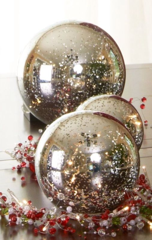 Mercury Glass Decorative Balls 69 Best Mercury Glass Images On Pinterest  Christmas Deco