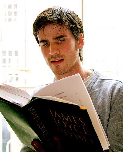 27 year old Colin reading James Joyce. He's adorable :) I don't even know where to pin this...
