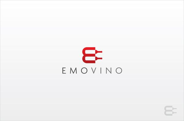 Emovino Logo Design - Wine Distributor, Paris by Toon Creffield, via Behance