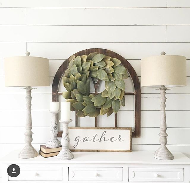 Please forgive the over-posting, but What a gorgeous way to display our humble little GATHER sign.....and I'm honored that it's in the same space as a @magnolia wreath. And ummmm.....do you SEEEE that shiplap wall?! Jo-Jo would be so proud! I love customer shares! Thank you @deniseodonnell8 !!
