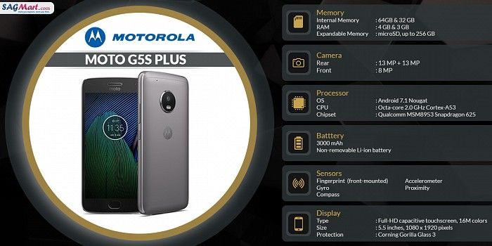 Motorola Moto G5s Plus Android Mobile Launched With Dual Rear