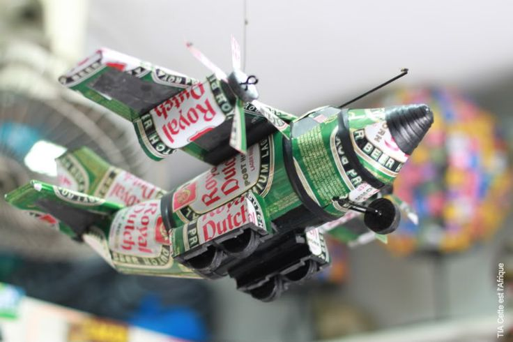 Recycled Art: Tin can art by Babacar and his brothers