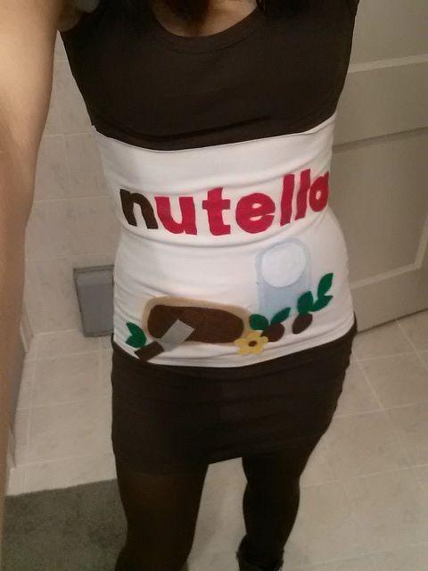 Homemade Nutella costume #Nutella #halloween #diy