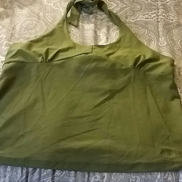 Columbia Sportswear Company Halter Columbia Sportswear Company Halter with built in bra polished Stretch its says Avocado for a color women vertex Columbia Tops