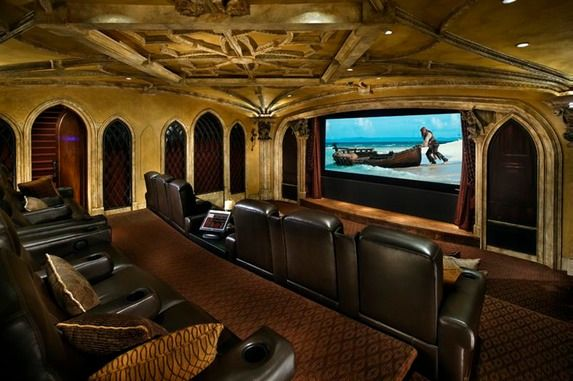 Theater rooms movie rooms and theater on pinterest Living room movie theater showtimes