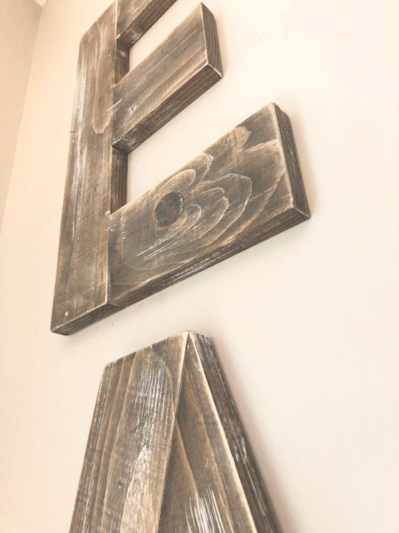 Large Eat Sign Wooden Letters Rustic Wood Kitchen Dining Room Decor Wall Art Distressed Reclaimed Joanna Gaines Farmhouse Fast Ship Wooden Letters Wooden Signs Eat Sign