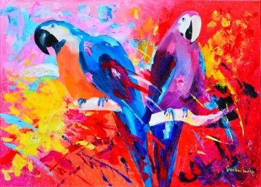 Coloured parrots