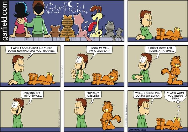 Garfield Comic Strip  for Oct/26/2014  on GoComics.com
