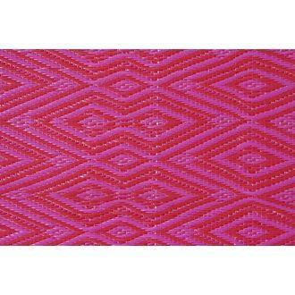 vloerkleed roze-rood geruit