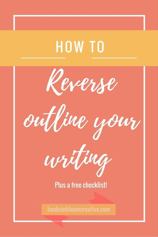 Need to organize your writing, but hate outlining? Try my reverse outlining method after you write to improve the clarity and flow of your writing. Click through to read the article and get a free checklist!