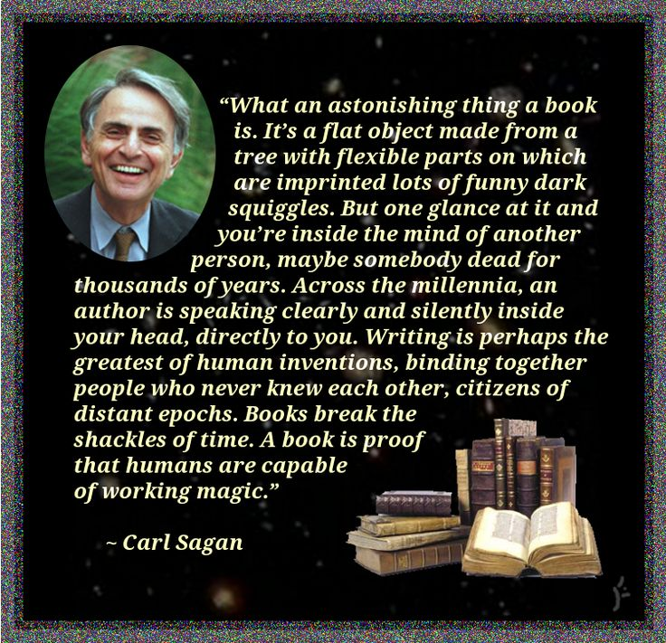 Carl Sagan Love Quote: Pin By Karen K. On The Reading Nook