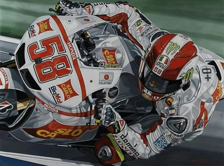 Nice portrait of Marco Simoncelli RIP
