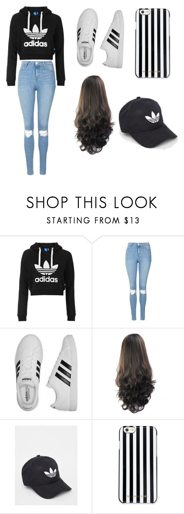 """How To Wear Adidas"" by mysterygal232 on Polyvore featuring Topshop, adidas and MICHAEL Michael Kors"