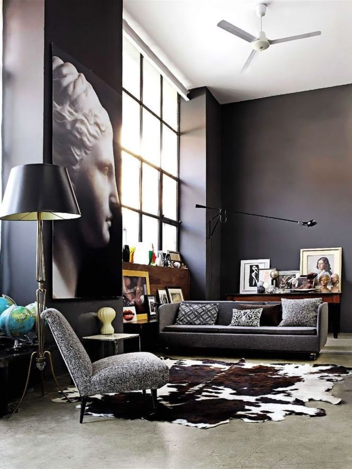 les 25 meilleures id es de la cat gorie peau de vache sur pinterest tapis de vache d cor de. Black Bedroom Furniture Sets. Home Design Ideas