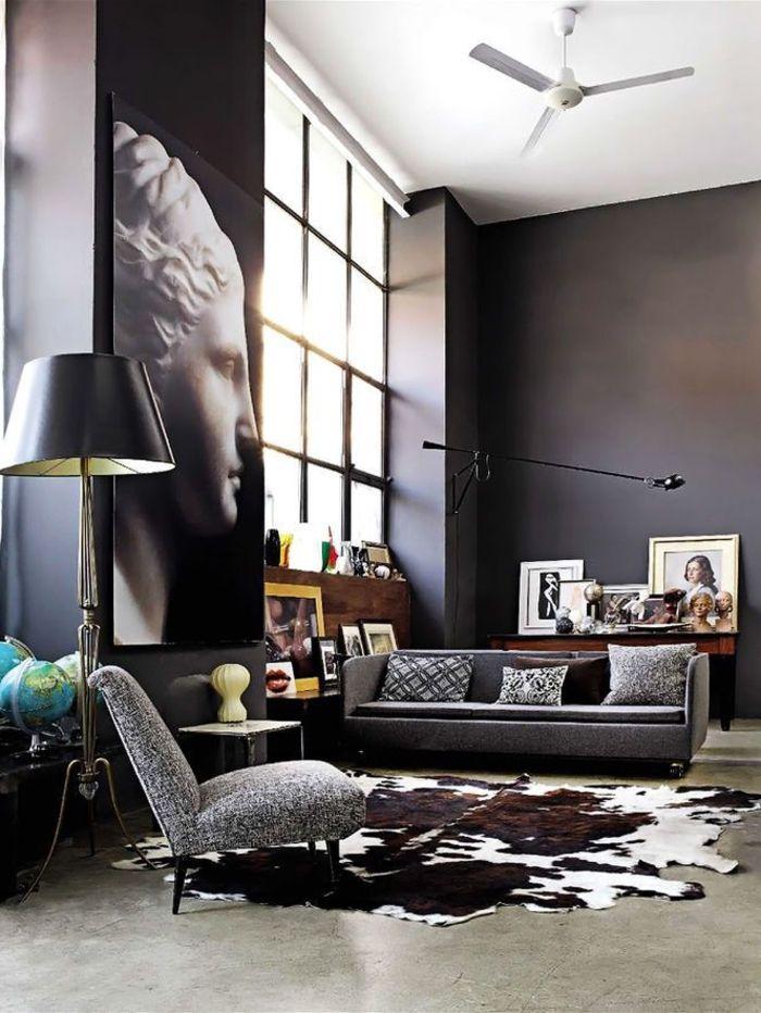 Les 25 meilleures id es de la cat gorie d cor de tapis en peau de vache sur pinterest tapis en for Image joli salon