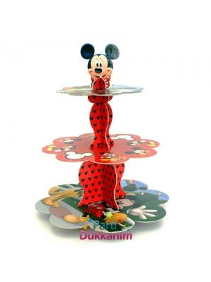 Mickey Mouse 3 Katlı Kek Standı