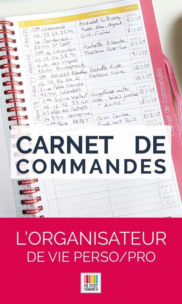 Le Carnet De Commande Peut Servir Aux Professionnels Qui Souhaitent Y Inscrire Toutes Les Commandes De Leurs Cl Agenda Plannificateur Agenda Agenda Familial