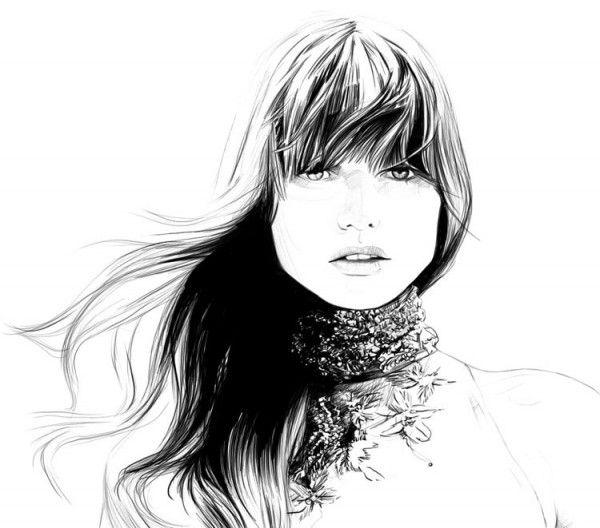Breathless.Carolineandrieu, Inspiration, Abbey Lee, Art, Andrieu Fashion, Fashionillustration, Caroline Andrieu, Drawing, Fashion Illustrations