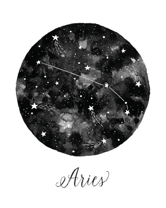 Aries Constellation Illustration Vertical by fercute on Etsy Mais