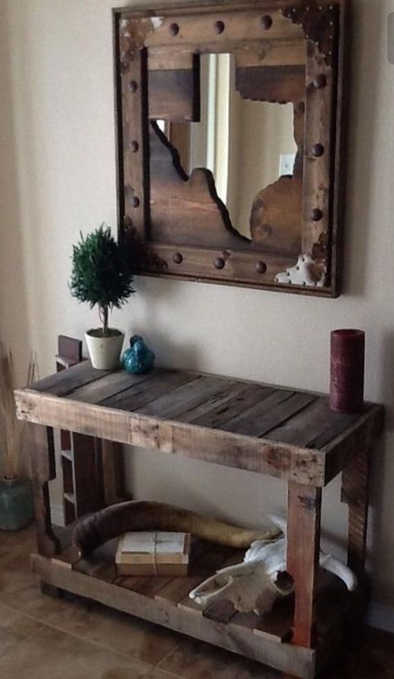 This listing is for a beautiful console table made from pallet wood, like the one in the listing photo. Table can be made to any dimensions desired, just specify in the note to seller section at checkout. The color of the table will be the natural wood color of each pallet and coated with satin finish poly. If shipping required, table will be shipped with legs detached with kreg jig holes predrilled and the appropriate screws shipped with table to allow shipping and decrease shipping costs…