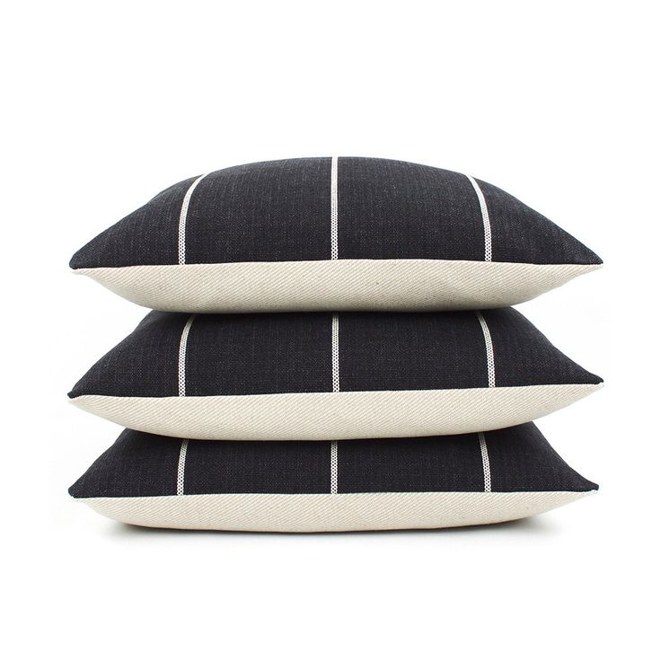 Black and Cream Striped Square Pillow Cover, Choose Your Size, Black Pillow, Woven Pillow, Textured Pillow, Toss Pillow, Streamline by ChloeandOliveDotCom on Etsy https://www.etsy.com/listing/264899748/black-and-cream-striped-square-pillow