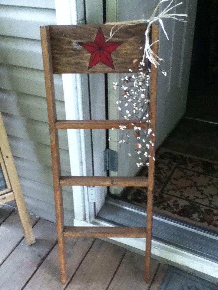 14 best images about wooden ladders on pinterest for Old wooden ladder projects