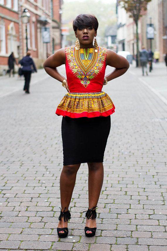 Dashiki shirt Dashiki for women African clothing Dashiki by Laviye