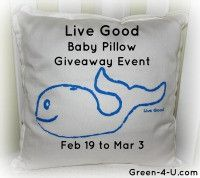 Win a 100% organic baby animal pillow from Live Good! The cutest pillows ever!