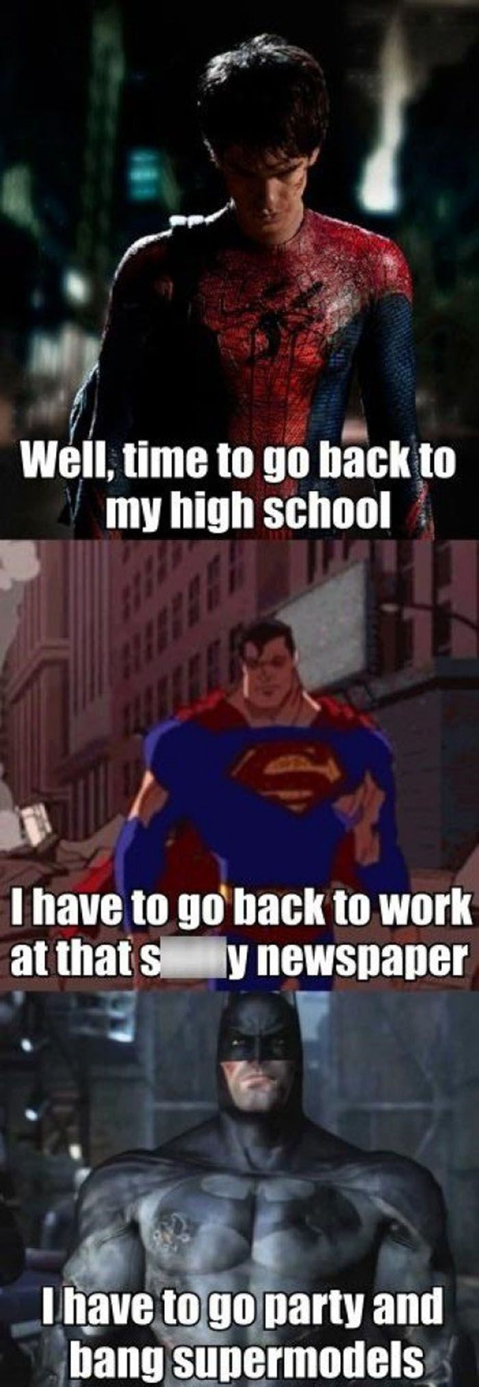 """Because I'm Batman!"""