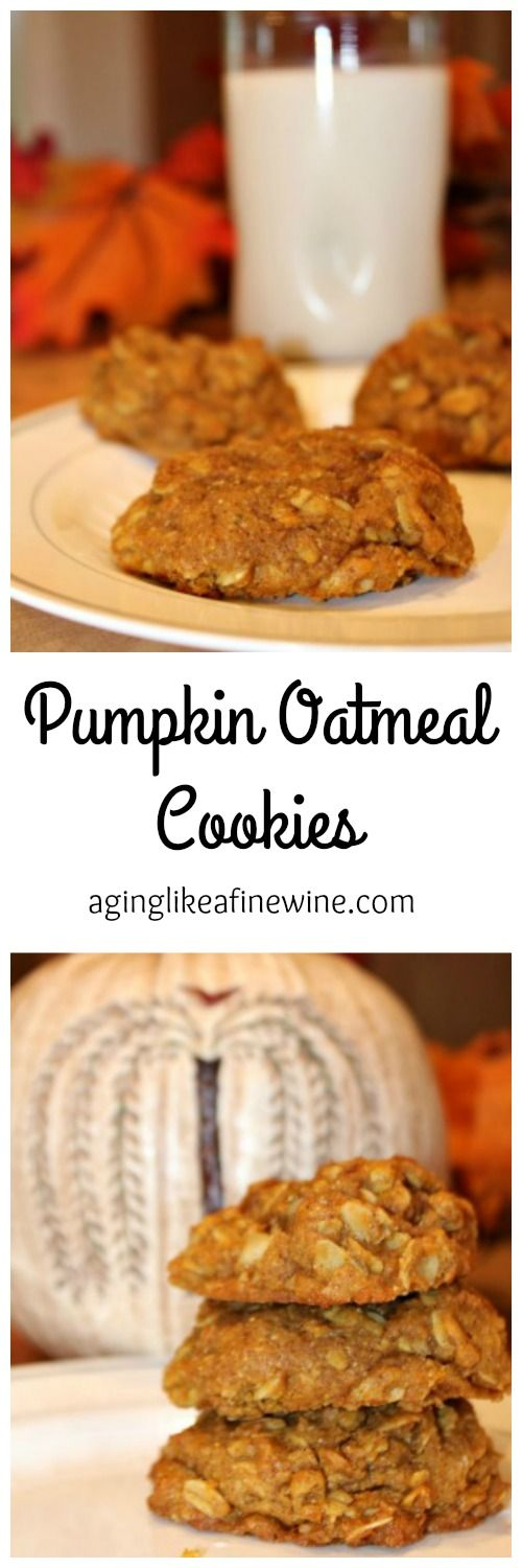 Pumpkin Oatmeal Cookies and the soon to arrive Autumn... perfect combination!