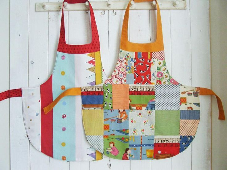 Before you head to the kitchen, get to your sewing room to stitch up one of these darling aprons.