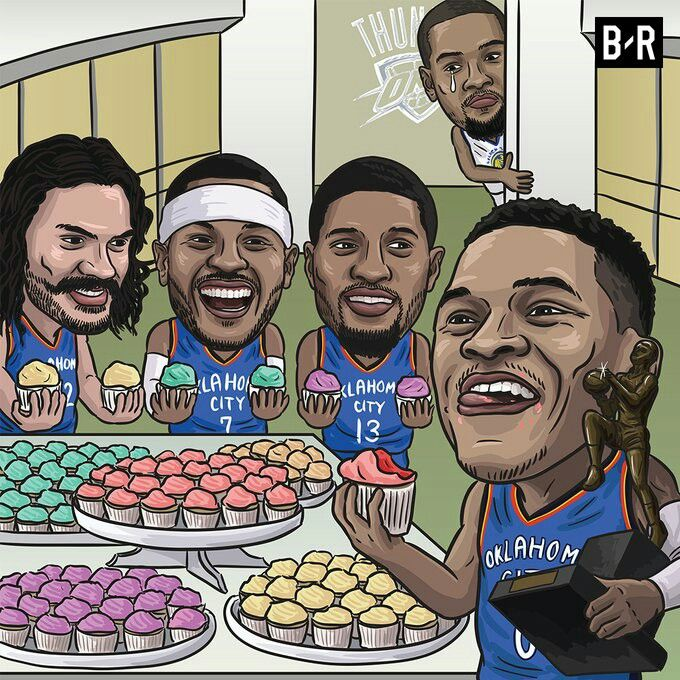 Russ gets his first win against KD.
