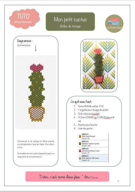 Mon 1er petit cactus et sa grille de tissage. Bon amusement. N'hésitez pas à partager vos créations avec les #motiflespetitesvalises