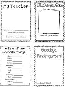 TheHappyTeacher: Kindergarten Memory Book