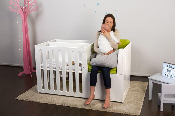 Notre nouveau Berce O' Lit 100% made in France - Etape 1 : le cocon maman-bébé avec berceau et fauteuil intégré. http://www.pioupiou-et-merveilles.fr/fr/mobilier/158-berce-o-lit-lit-bebe-evolutif-0-3ans-gris.html