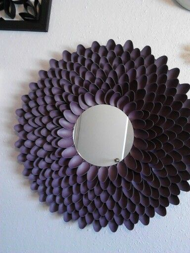 39 best images about mirrors lustara on pinterest for Plastic spoon flower mirror
