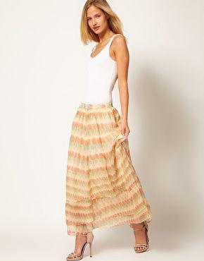 La Fee Verte Indian Summer Silk Maxi Skirt
