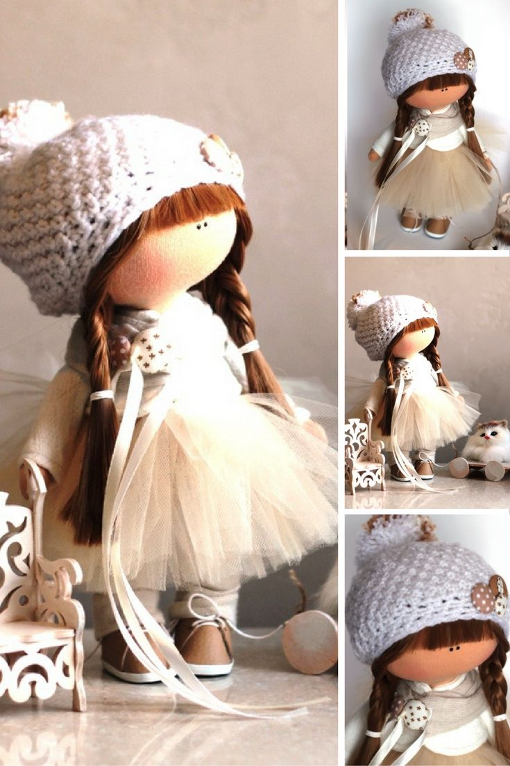 Tilda doll Fabric doll Summer doll handmade brown color Soft doll Cloth doll…
