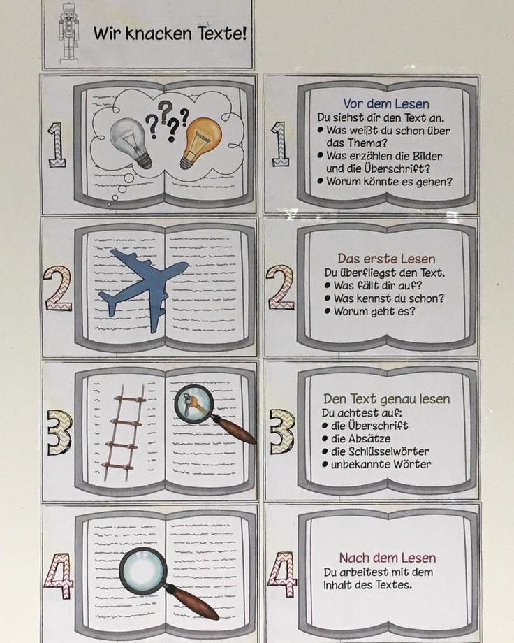 Der Textknacker Im Schulbuch Doppel-Klick in 4, statt den für die 5-Schritt-Lesemethode üblichen 5 Schritten. Wir arbeiten jetzt fleißig am Leseverständnis! #lesen #schule #unterricht #textknacker #methoden