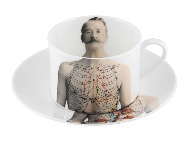 Every man needs his coffee. Enjoy yours in this 'Anatomica' Coffee Cup & Saucer. This range celebrates the beauty of the 'human machine' discovered in the 19th century and shows an appreciation for the beauty of who we are. Inspired by wonderful illustrations found in anatomical books during that time, this collection features formal etchings designed by talented artist Lisa Turner. Dishwasher safe, Fine Bone China. Find out more here…